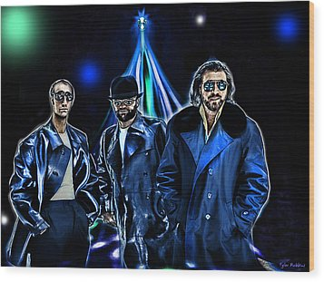 The Bee Gees Wood Print by Tyler Robbins