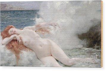 The Birth Of Venus Wood Print by Henri Gervex