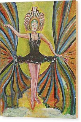 The Black Tutu Wood Print by Tom Conway