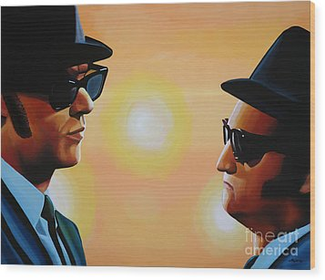The Blues Brothers Wood Print by Paul Meijering