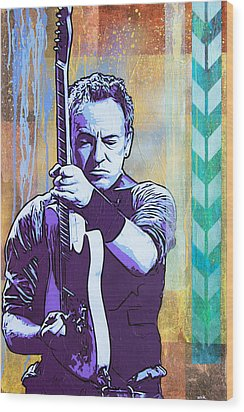 The Boss Wood Print by Bobby Zeik