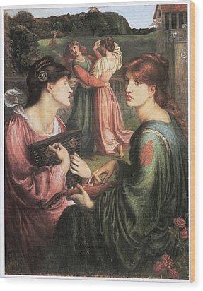 The Bower Meadow Wood Print by Dante Gabriel Rossetti