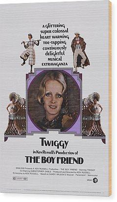 The Boy Friend, Us Poster Art, Twiggy Wood Print by Everett