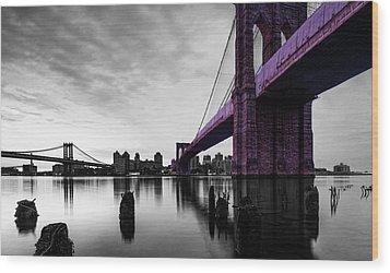 The Brooklyn Bridge Wood Print by Brian Reaves