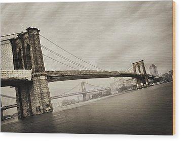 The Brooklyn Bridge Wood Print by Eli Katz