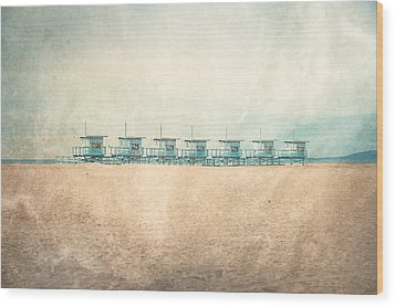 The Cabins Wood Print by Nastasia Cook