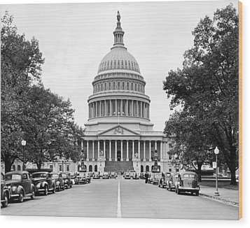 The Capitol Building Wood Print by Underwood Archives