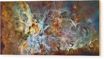 The Carina Nebula Wood Print by Ricky Barnard