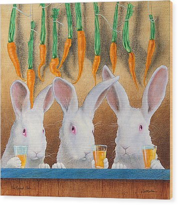The Carrot Club... Wood Print by Will Bullas