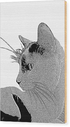 The Cat Wood Print by Ben and Raisa Gertsberg