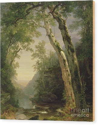 The Catskills Wood Print by Asher Brown Durand