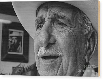 The Cigar Maker Wood Print by Rene Triay Photography