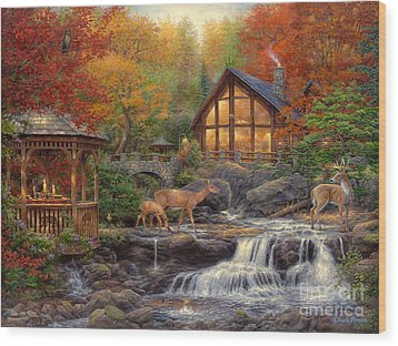 The Colors Of Life Wood Print by Chuck Pinson