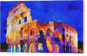 The Colosseum Tnm Wood Print by Vincent DiNovici