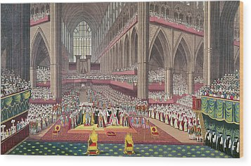 The Coronation Of King William Iv And Queen Adelaide, 1831 Colour Litho Wood Print by English School