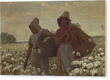 The Cotton Pickers Wood Print by Winslow Homer