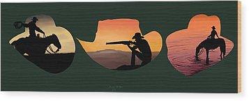 The Cowboy Way Wood Print by Brien Miller