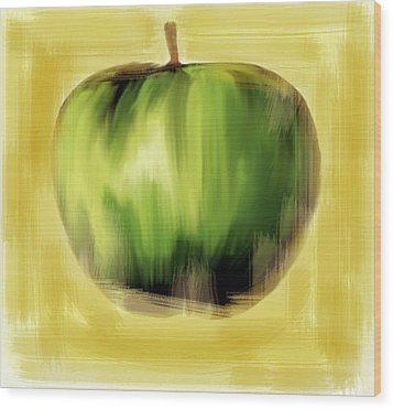 The Creative Apple The Beatles Wood Print by Iconic Images Art Gallery David Pucciarelli