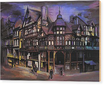 The Cross And Rrows Chester England Wood Print by Andrzej Szczerski