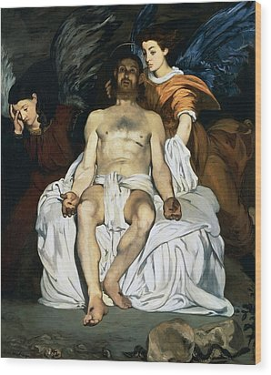 The Dead Christ And Angels Wood Print by Edouard Manet