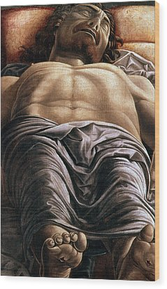 The Dead Christ Wood Print by Andrea Mantegna