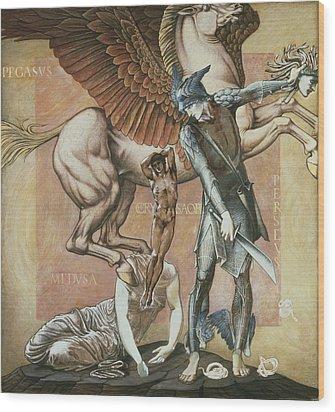 The Death Of Medusa I, C.1876 Wood Print by Sir Edward Coley Burne-Jones