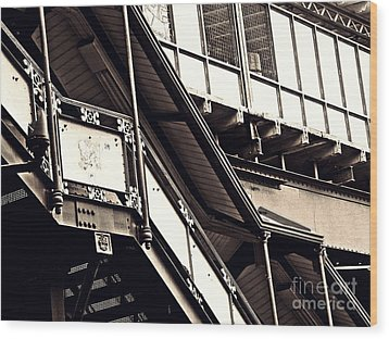 The Elevated Station At 125th Street 2 Wood Print by Sarah Loft