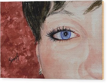 The Eyes Have It - Nicole Wood Print by Sam Sidders