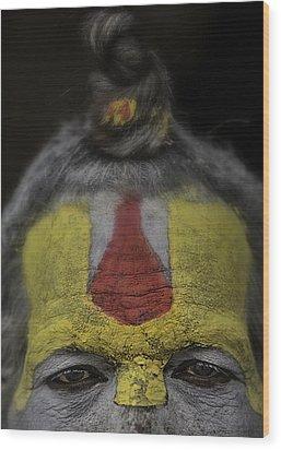 The Eyes Of A Holy Man 2 Wood Print by David Longstreath