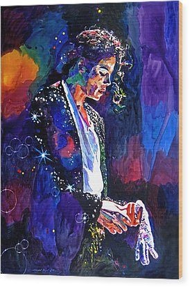 The Final Performance - Michael Jackson Wood Print by David Lloyd Glover