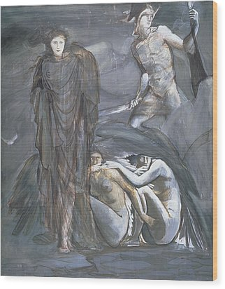The Finding Of Medusa, C.1876 Wood Print by Sir Edward Coley Burne-Jones