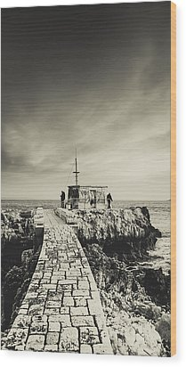 The Fishermen's Hut Wood Print by Marco Oliveira