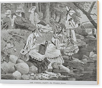 The Fishing Party Wood Print by Winslow Homer