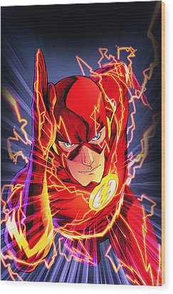 The Flash Wood Print by FHT Designs