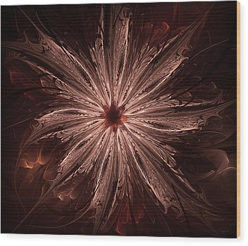 The Flower Wood Print by Radoslav Nedelchev