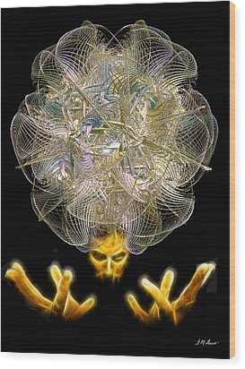 The Fractal Artist Wood Print by Michael Durst