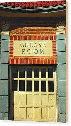 The Garage Wood Print by Chris Berry