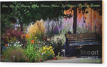 The Garden Of Life Wood Print by Bobbee Rickard