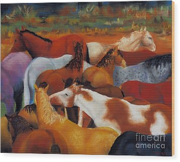 The Gathering Wood Print by Frances Marino