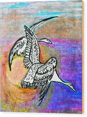 The Geese Wood Print by Jo-Ann Hayden