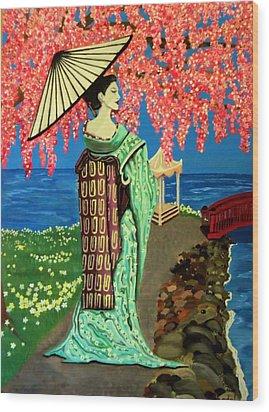 The Geisha Wood Print by Victoria Rhodehouse