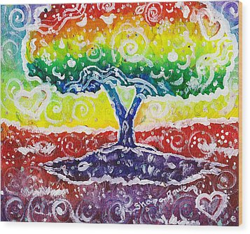 The Giving Tree Wood Print by Shana Rowe Jackson
