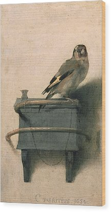 The Goldfinch Wood Print by Carel Fabritius