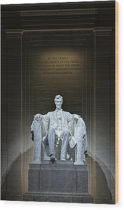 The Great Emancipator Wood Print by Metro DC Photography
