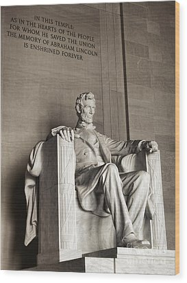 The Great Emancipator Wood Print by Olivier Le Queinec