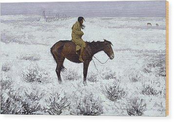 The Herd Boy Wood Print by Fredrick Remington