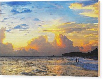 The Honeymoon - Sunset Art By Sharon Cummings Wood Print by Sharon Cummings
