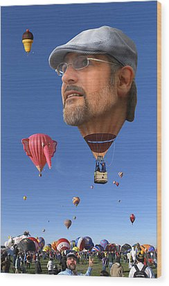 The Hot Air Surprise Wood Print by Mike McGlothlen