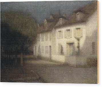 The House Wood Print by Henri Eugene Augstin Le Sidaner