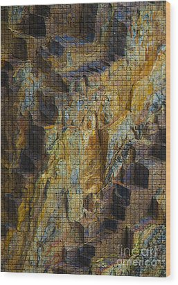The Jagged Rock Of Vesuvius Wood Print by Graham Foulkes